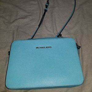 Michael Kors light blue crossbody bag